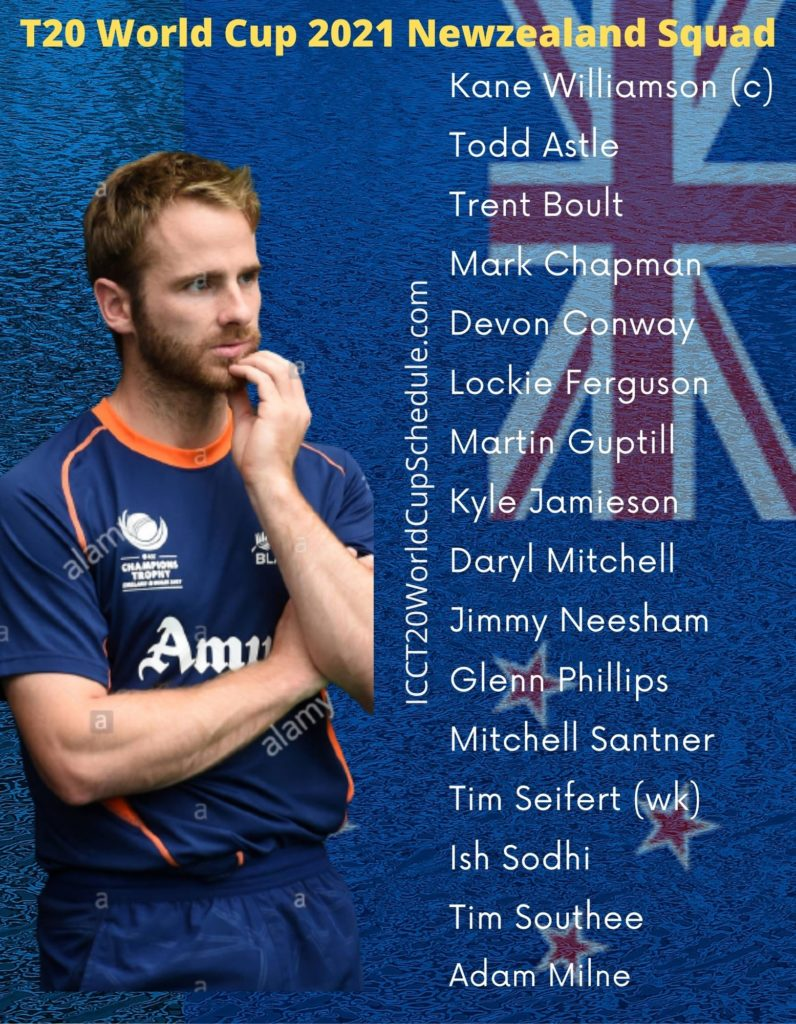 New Zealand T20 World Cup Squad 2021